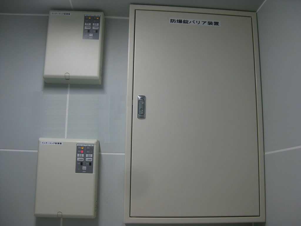 防爆電気錠AEPT施工1