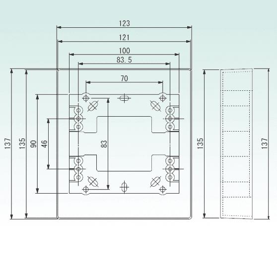 面付ボックス TKU-003.DBOXサイズ